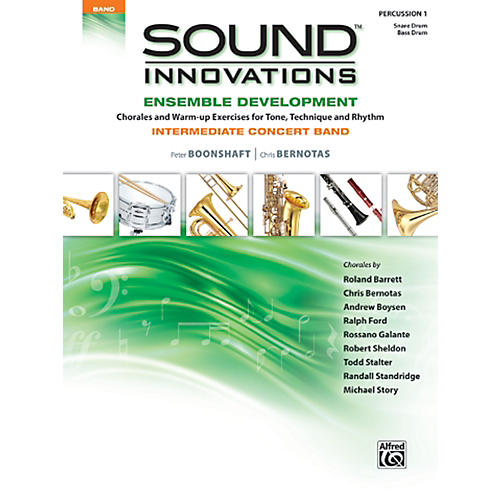 Alfred Sound Innovations Concert Band Ensemble Development Percussion 1 Book thumbnail