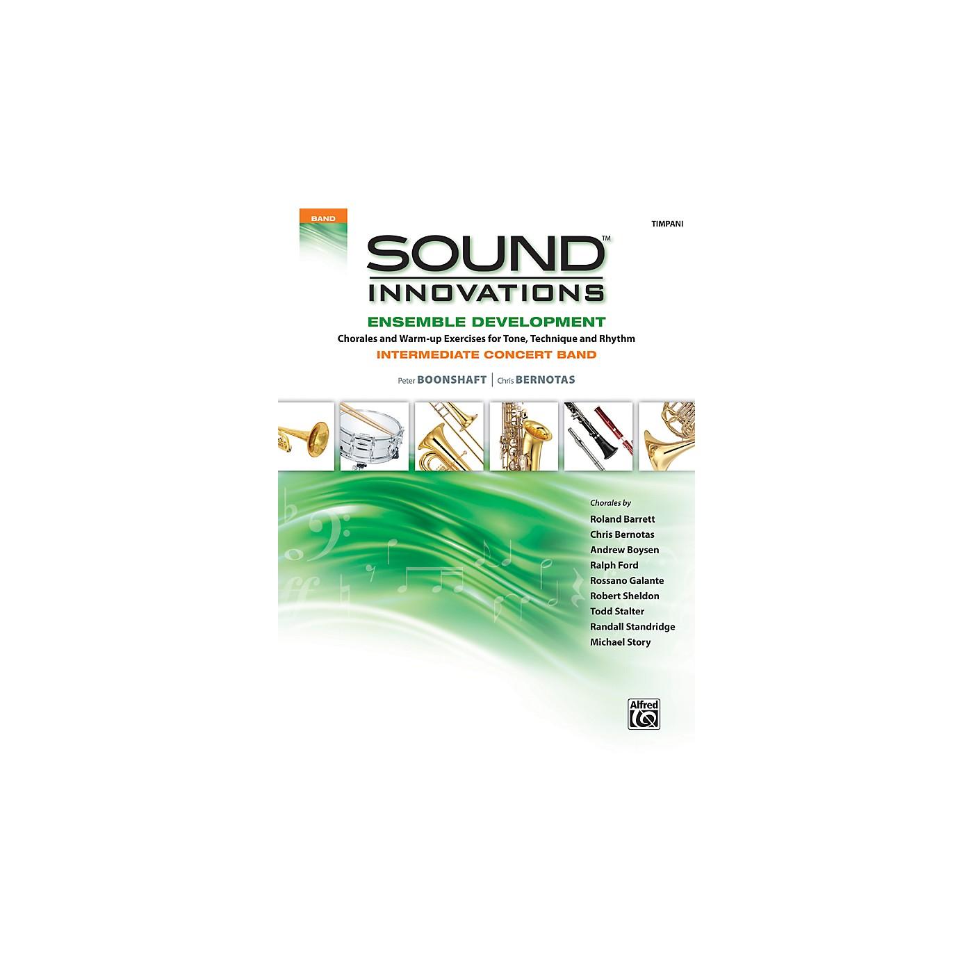 Alfred Sound Innovations Concert Band Ensemble Development Timpani Book thumbnail