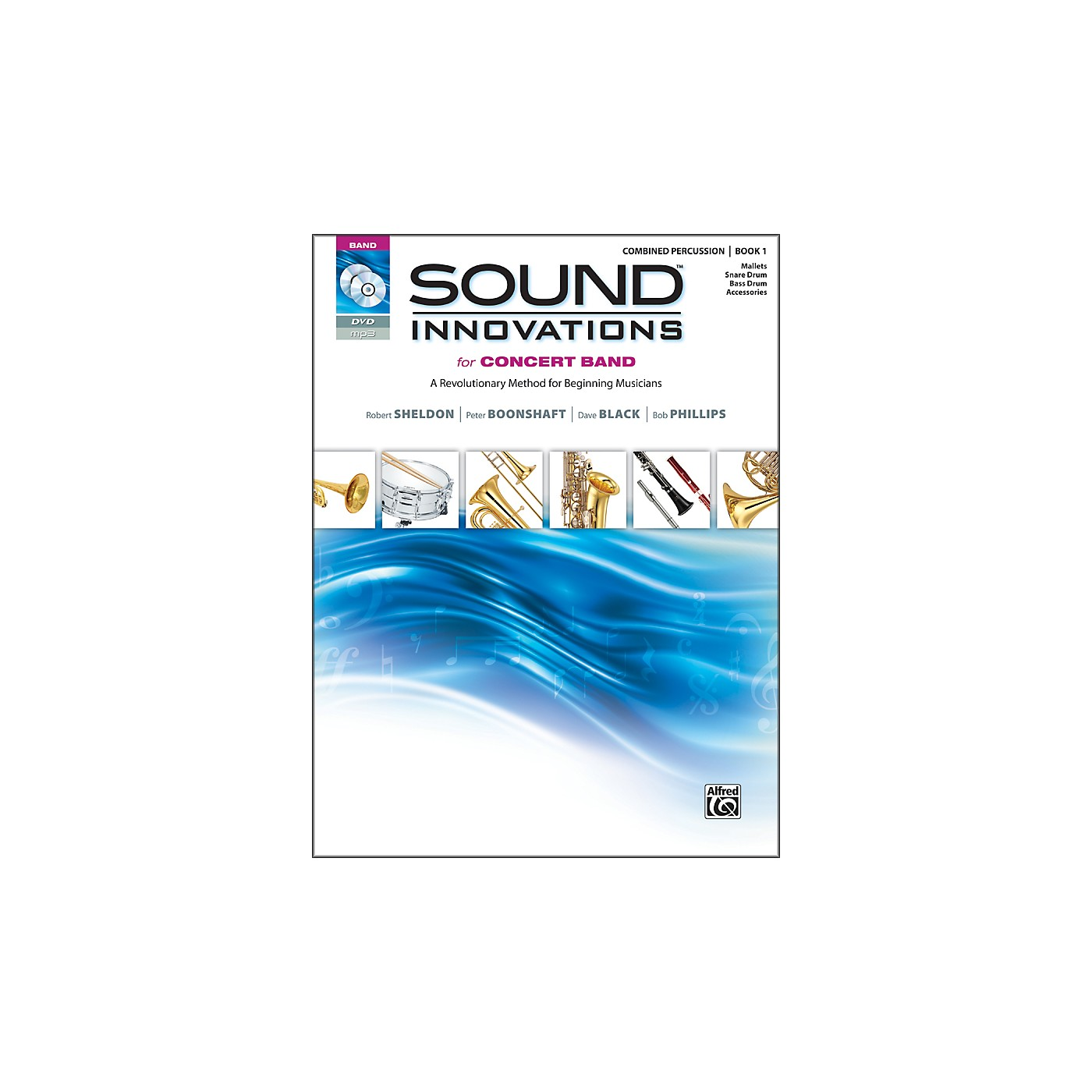 Alfred Sound Innovations for Concert Band Book 1 Combined Percussion Book CD/ DVD thumbnail