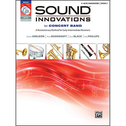 Alfred Sound Innovations for Concert Band Book 2 E-Flat Alto Saxophone Book CD/DVD thumbnail