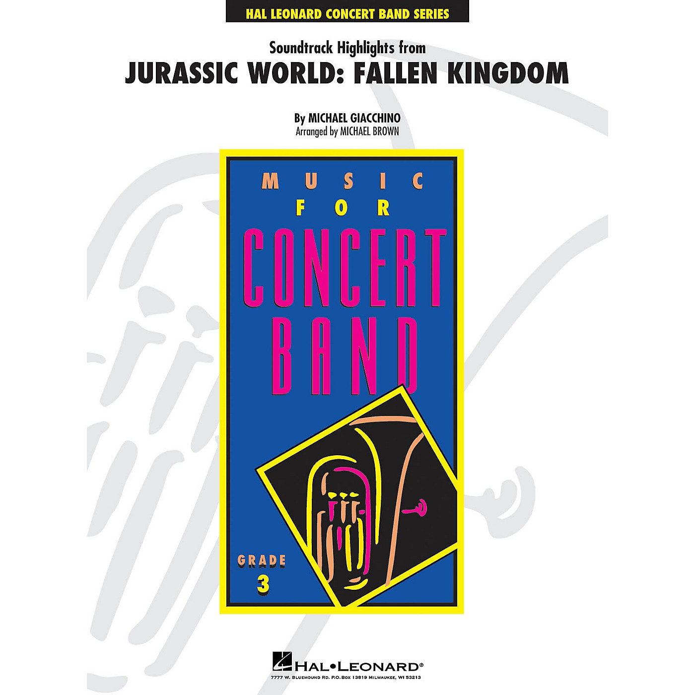 Hal Leonard Soundtrack Highlights from Jurassic World: Fallen Kingdom Young Concert Band Level 3 Arranged by Michael Brown thumbnail