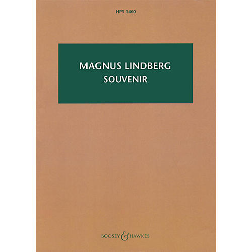 Boosey and Hawkes Souvenir (Large Ensemble Study Score) Boosey & Hawkes Scores/Books Series Composed by Magnus Lindberg thumbnail