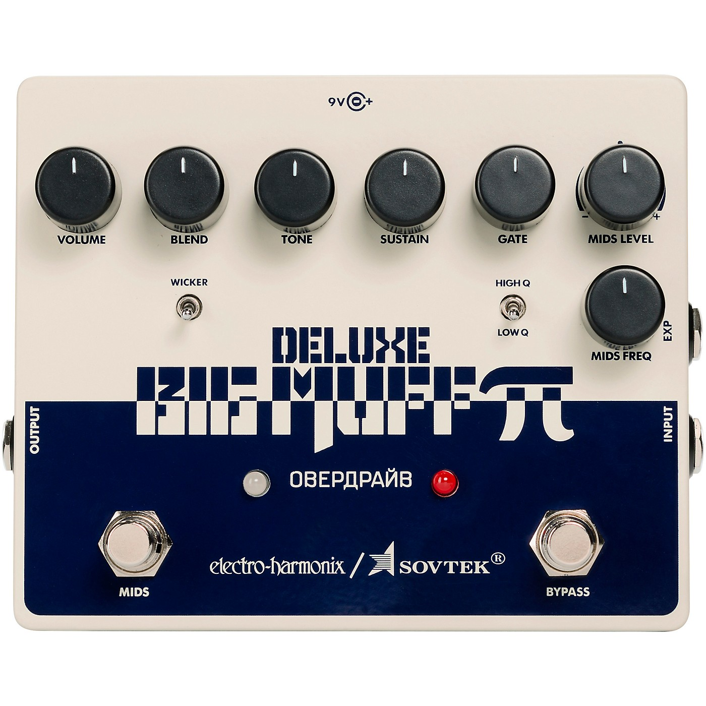 Electro-Harmonix Sovtek Deluxe Big Muff Pi Distortion/Sustainer Effects Pedal thumbnail