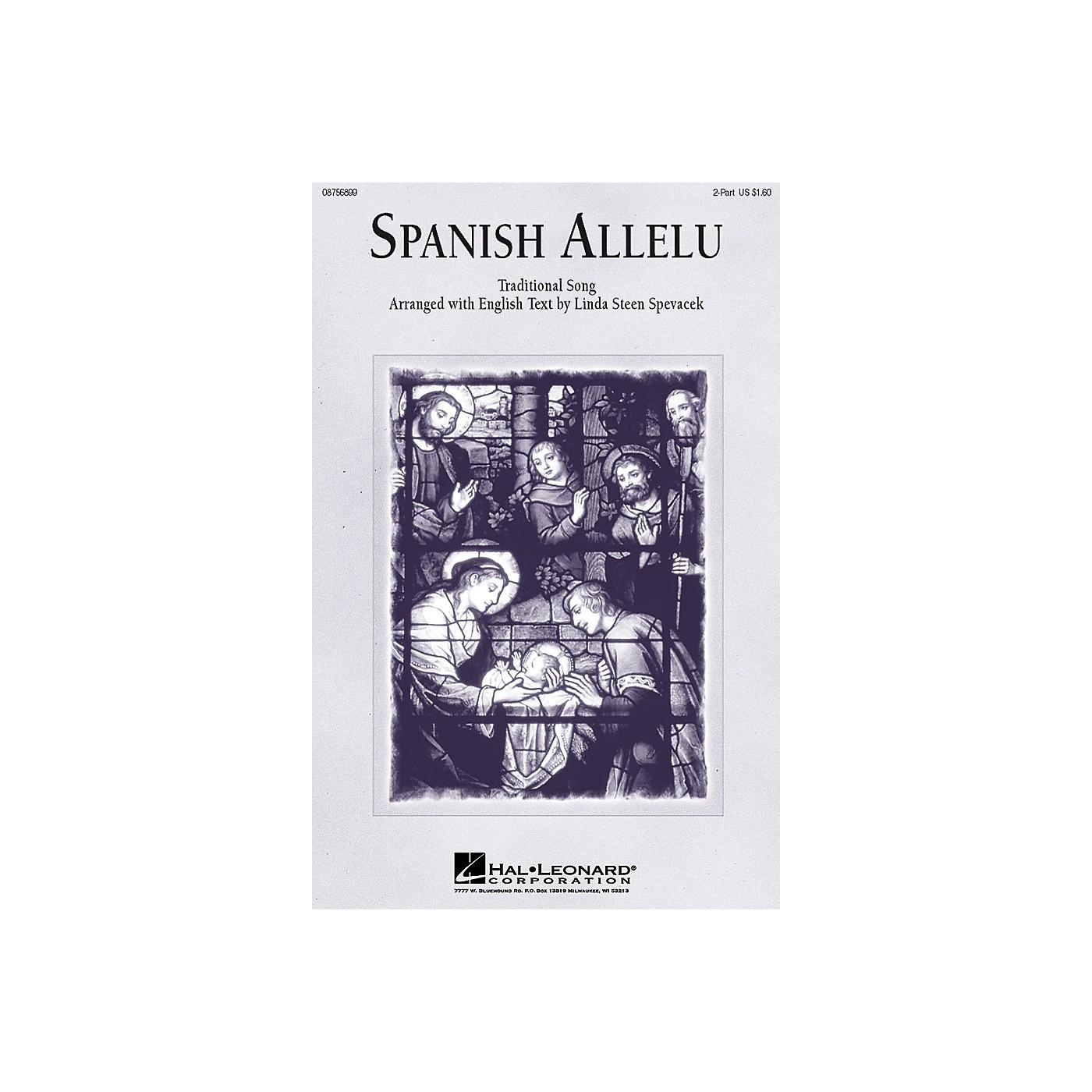 Hal Leonard Spanish Allelu 2-Part arranged by Linda Spevacek thumbnail