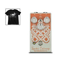 EarthQuaker Devices Spatial Delivery V2 Envelope Filter Effects Pedal and Octoskull T-Shirt Large Black