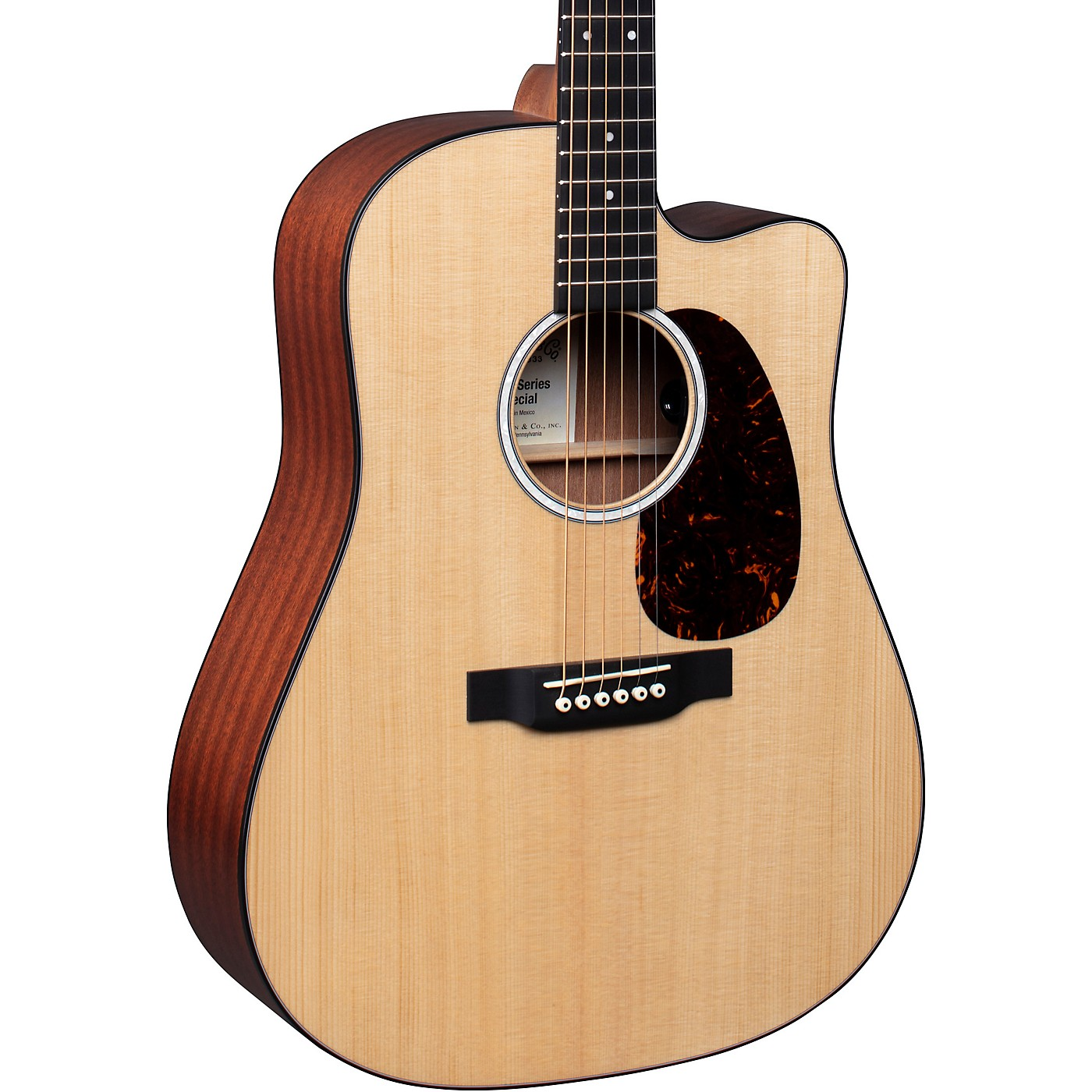 Martin Special Dreadnought Cutaway 11E Road Series Style Acoustic-Electric Guitar Natural thumbnail