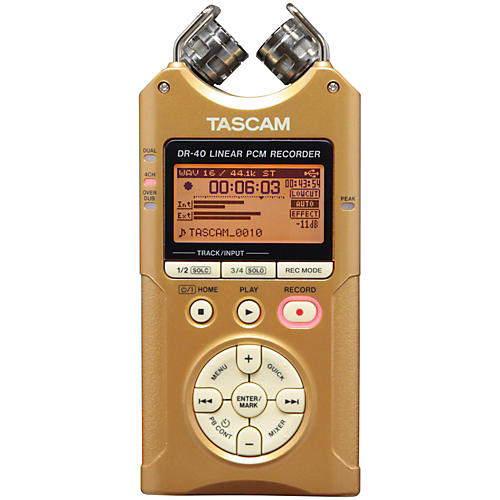 Tascam Special Edition Vintage Gold DR-40 Portable Digital Recorder-thumbnail