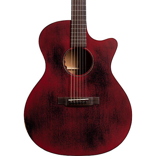 Martin Special Grand Performance Cutaway 15ME Streetmaster Style Acoustic-Electric Guitar Weathered Red thumbnail