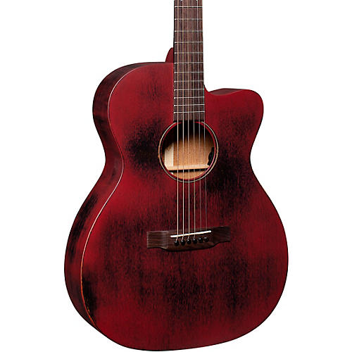 Martin Special OMC 15ME Streetmaster Style Acoustic-Electric Guitar Weathered Red thumbnail