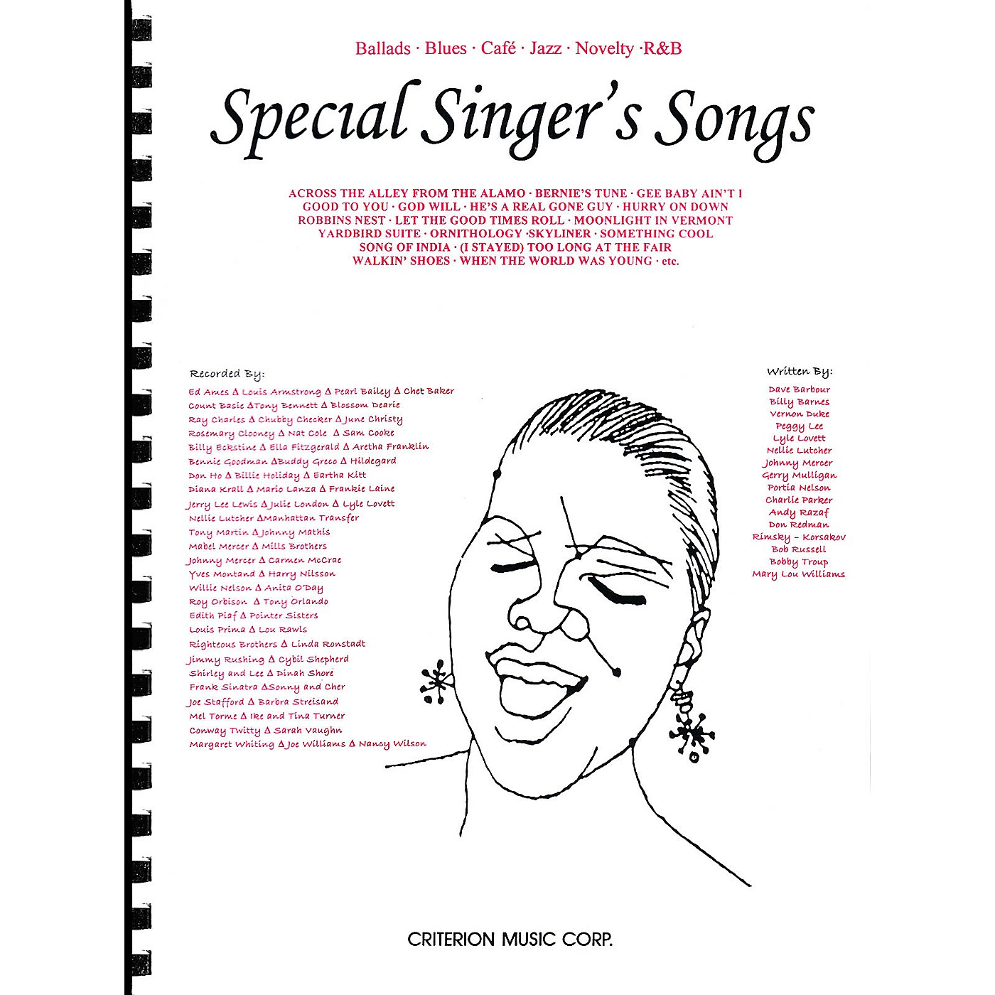 Criterion Special Singer's Songs (Ballads · Blues · Café · Jazz · Novelty · R&B) Criterion Series thumbnail