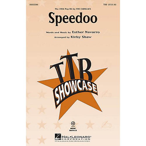 Hal Leonard Speedoo TBB by The Cadillacs arranged by Kirby Shaw thumbnail
