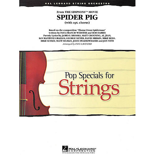Hal Leonard Spider Pig (from The Simpsons) Pop Specials for Strings Series Softcover Arranged by Paul Lavender thumbnail