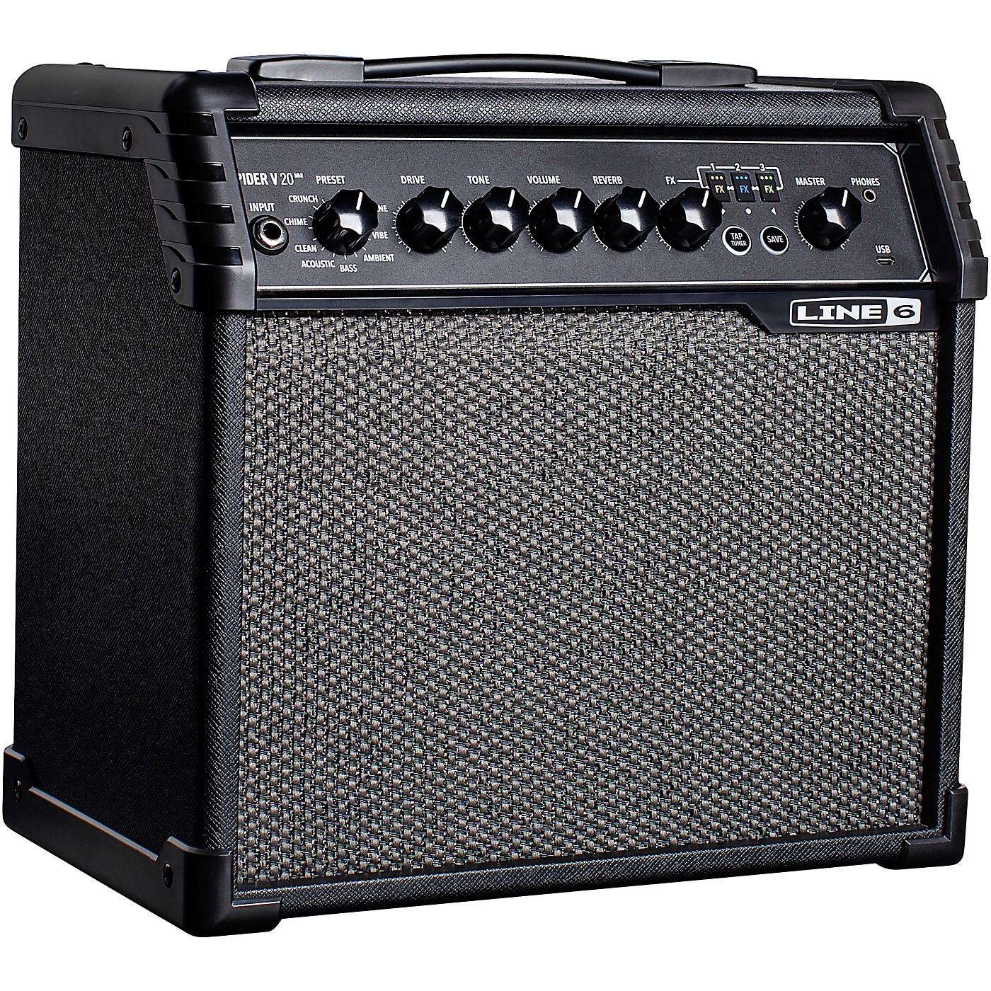 Line 6 Spider V 20 MKII 20W 1x8 Guitar Combo Amp thumbnail