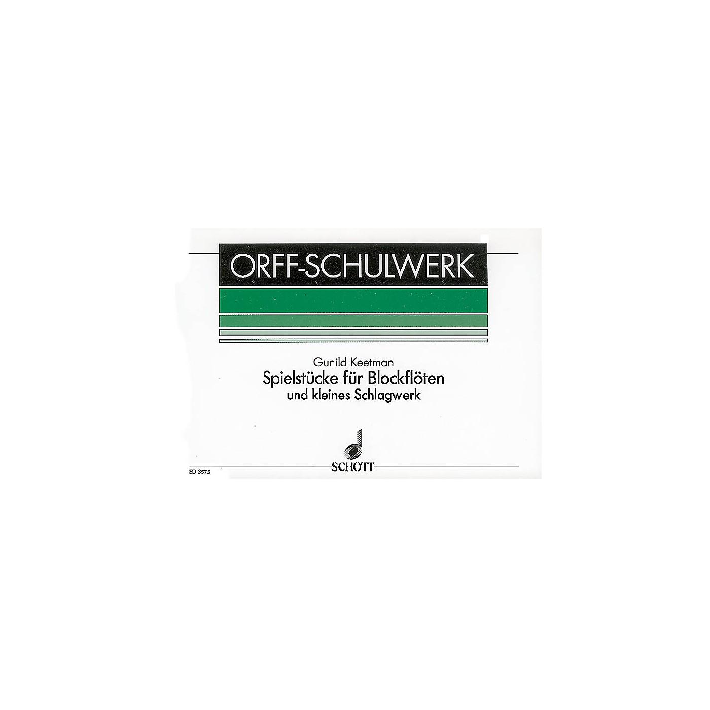 Schott Spielstücke für Blockflöten (German Language) Schott Series Composed by Gunild Keetman thumbnail