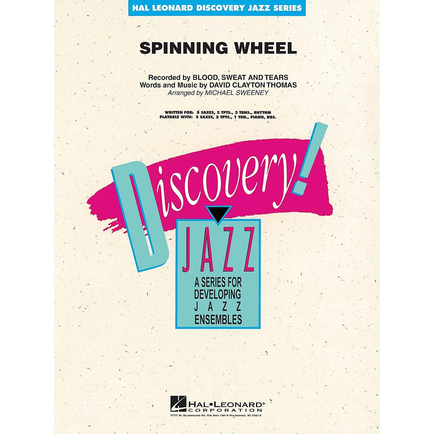 Hal Leonard Spinning Wheel Jazz Band Level 1-2 by Blood, Sweat & Tears Arranged by Michael Sweeney thumbnail
