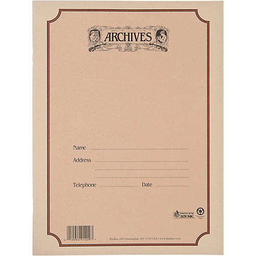 Archives Spiral Bound Manuscript Paper 10 Staves, 96 Pages thumbnail