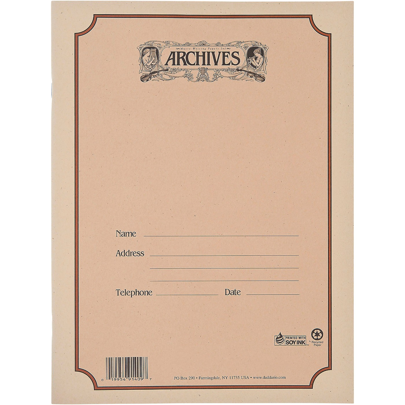 Archives Spiral Bound Manuscript Paper 10 Staves thumbnail