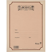Archives Spiral Bound Manuscript Paper 10 Staves