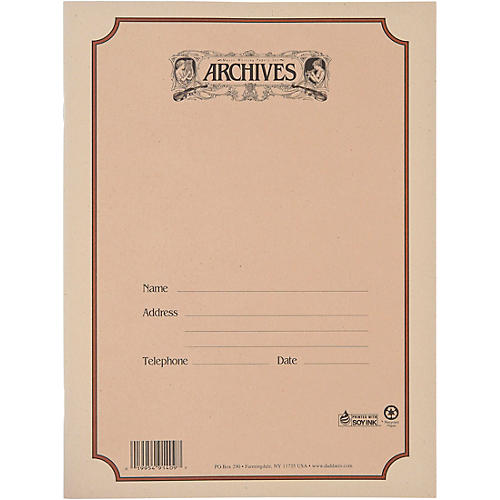 Archives Spiral Bound Manuscript Paper 12 Staves, 96 Pages thumbnail
