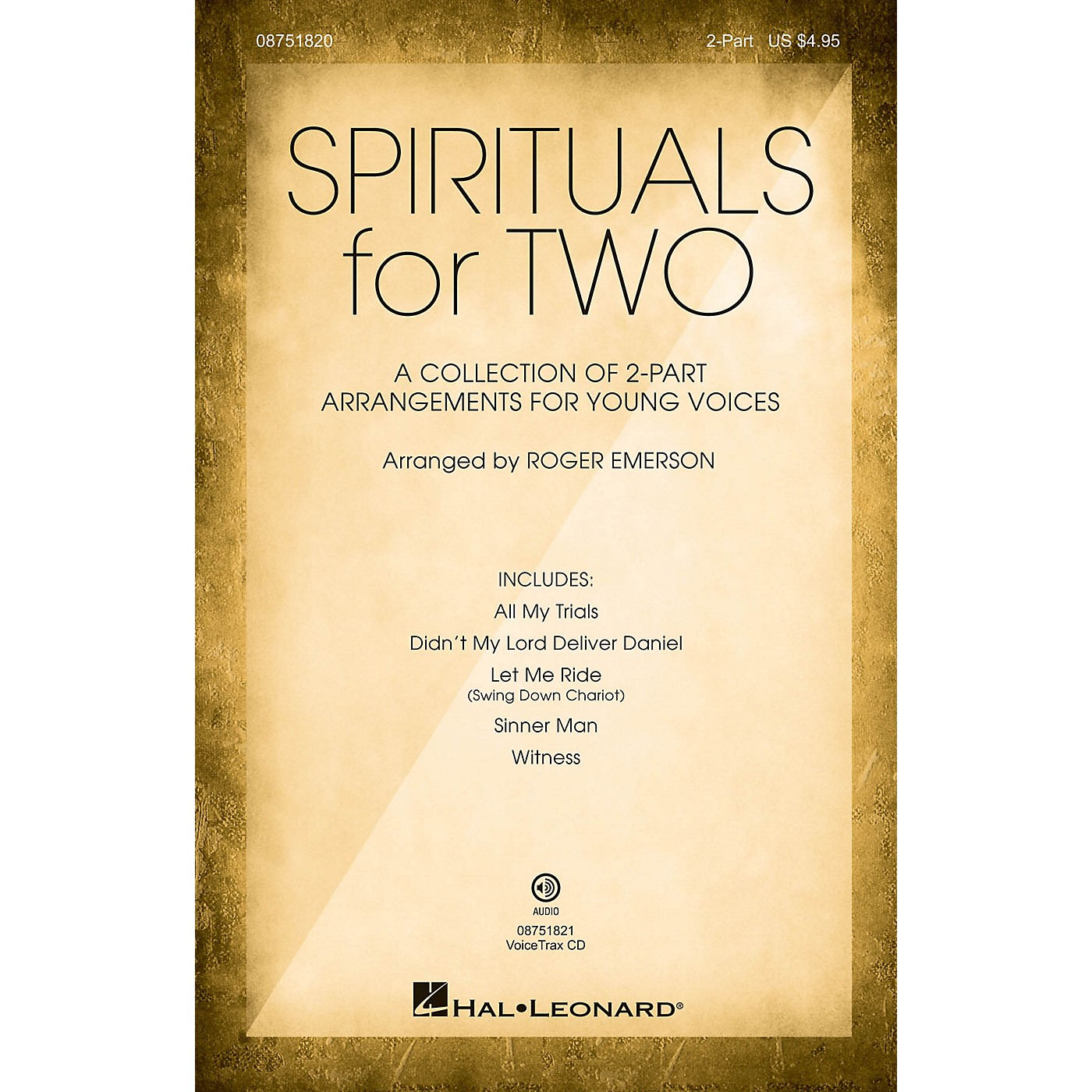 Hal Leonard Spirituals for Two VoiceTrax CD Arranged by Roger Emerson thumbnail