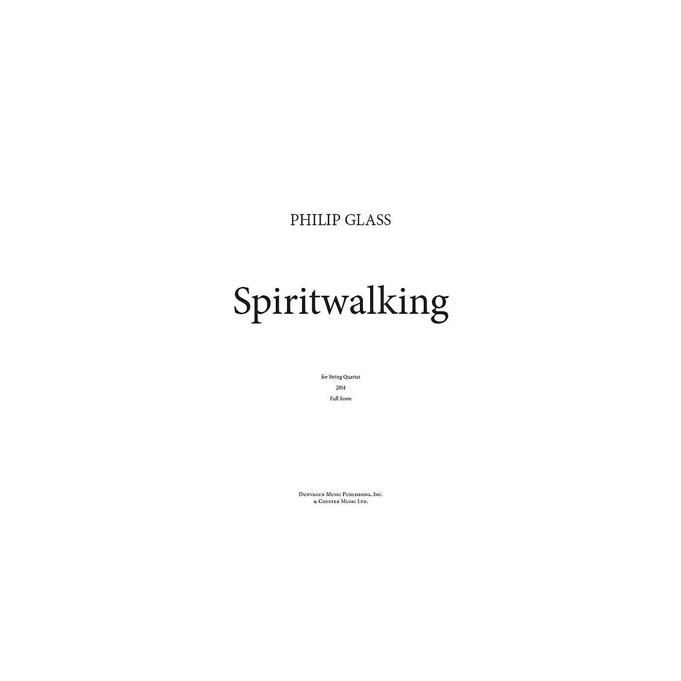 Dunvagen Spiritwalking Music Sales America Series Softcover Composed by Philip Glass thumbnail
