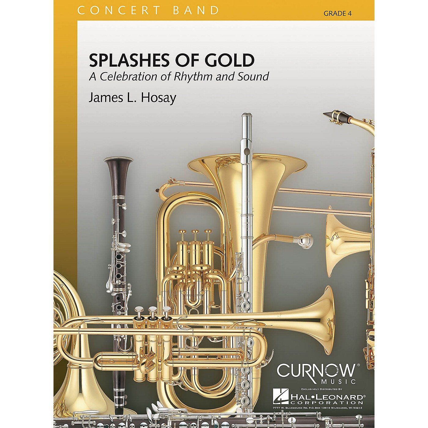Hal Leonard Splashes of Gold (Grade 4 - Score Only) Concert Band Level 4 Composed by James L. Hosay thumbnail