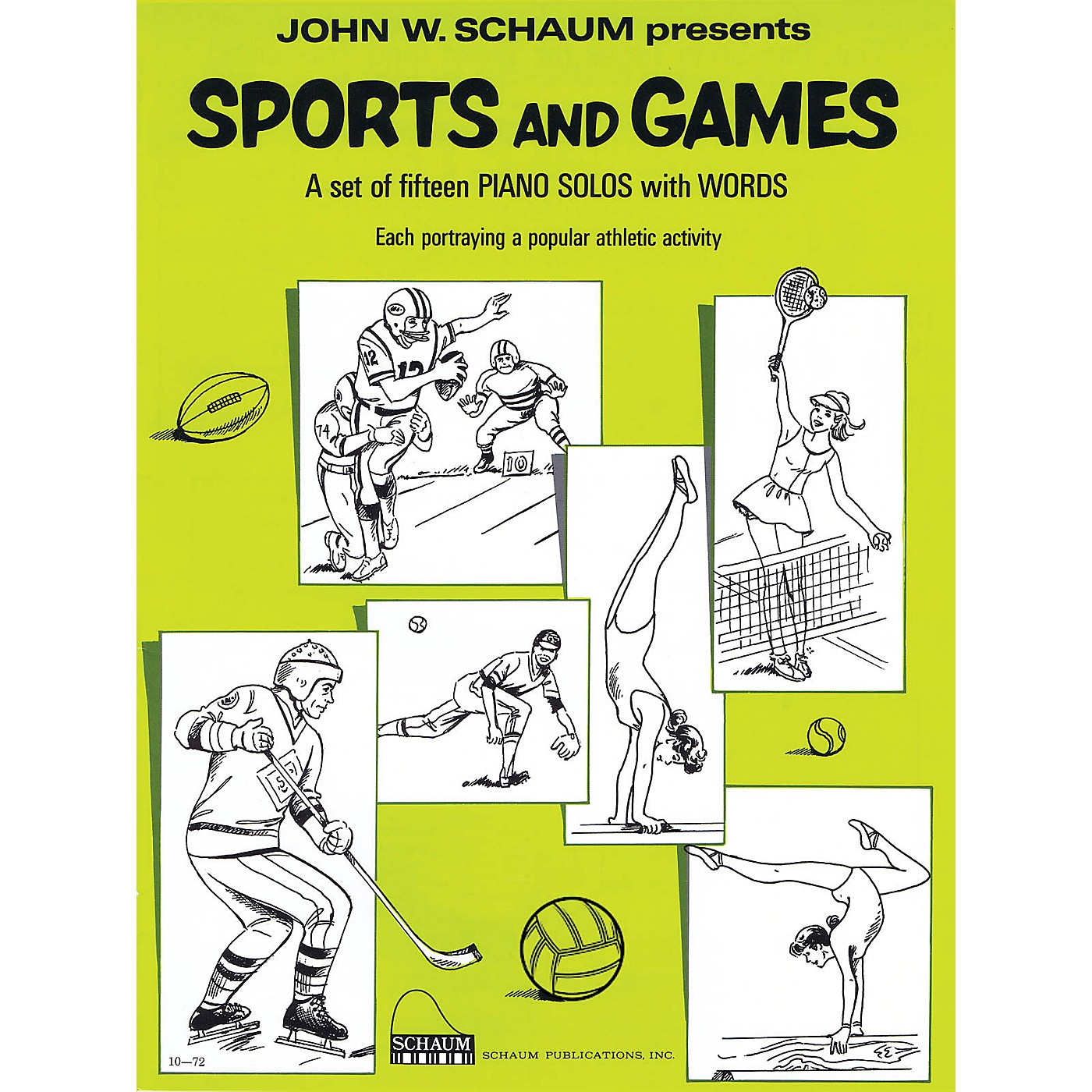 SCHAUM Sports and Games (Level 2 Upper Elem Level) Educational Piano Book by John W. Schaum thumbnail