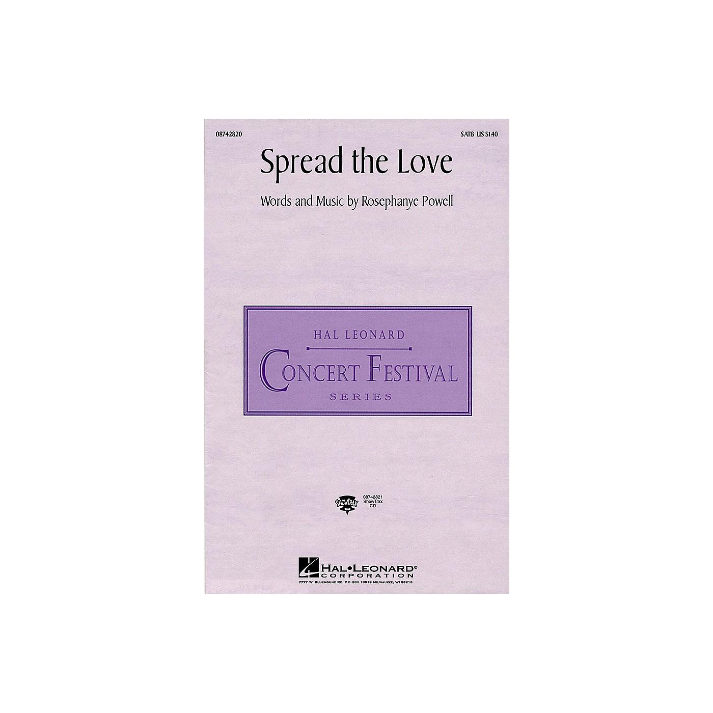Hal Leonard Spread the Love ShowTrax CD Composed by Rosephanye Powell thumbnail