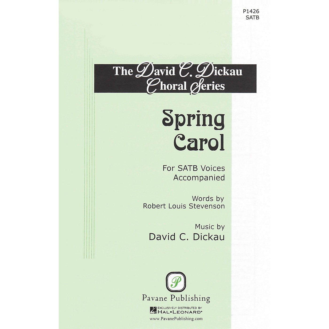 Pavane Spring Carol SATB composed by David C. Dickau thumbnail