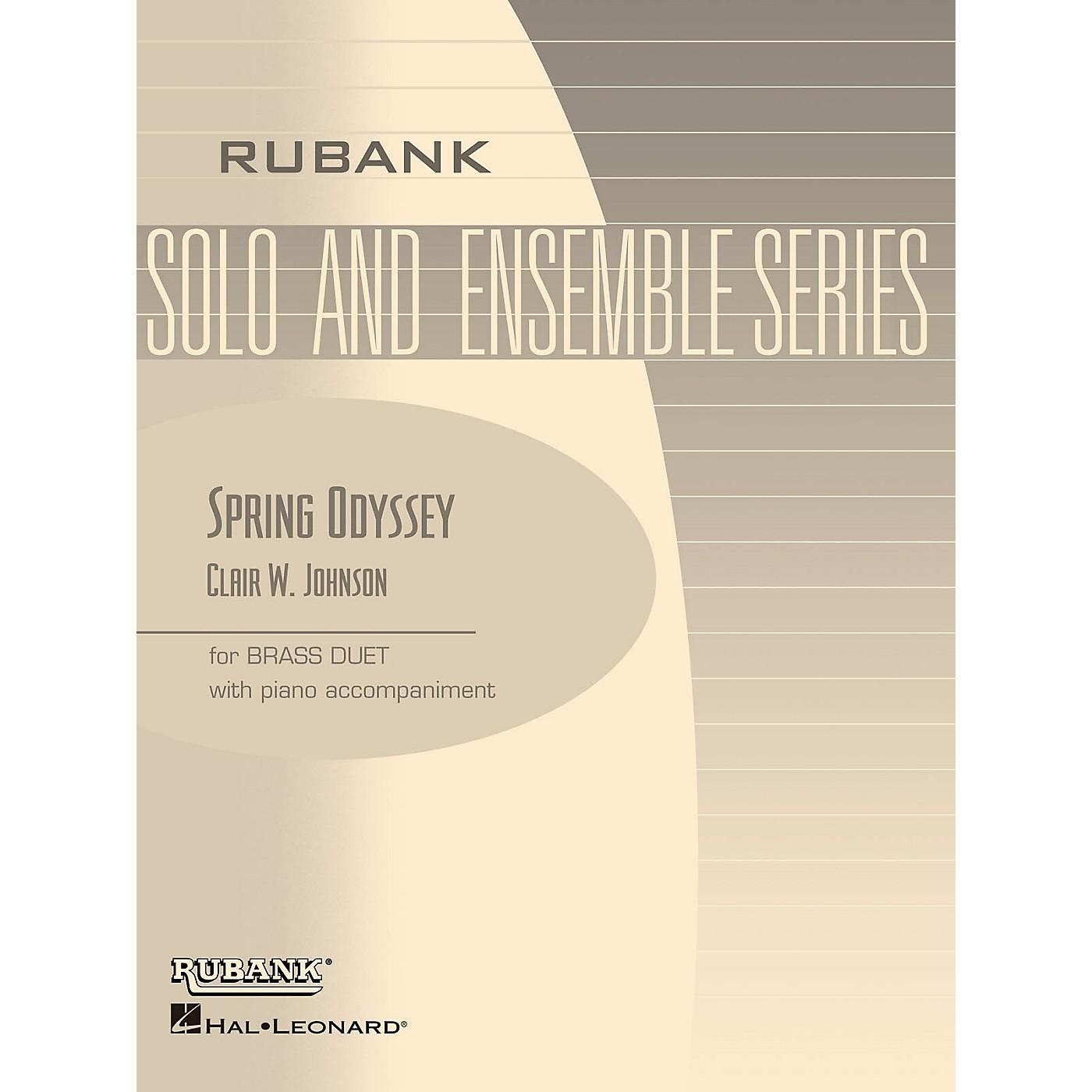 Rubank Publications Spring Odyssey (Brass Duet with Piano - Grade 3) Rubank Solo/Ensemble Sheet Series Book thumbnail