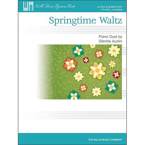 Willis Music Springtime Waltz - Later Elementary Piano Duet Sheet (1 Piano, 4 Hands) by Glenda Austin thumbnail