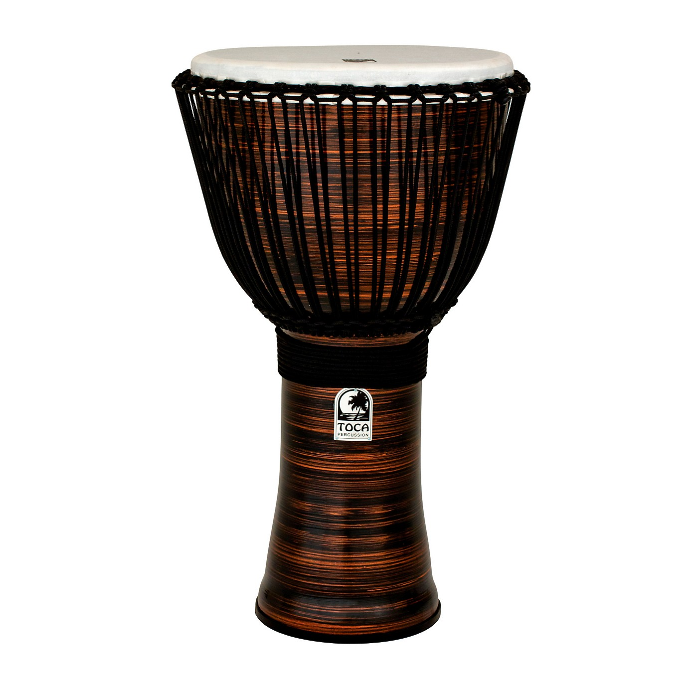 Toca Spun Copper Rope Tuned Djembe with Bag thumbnail