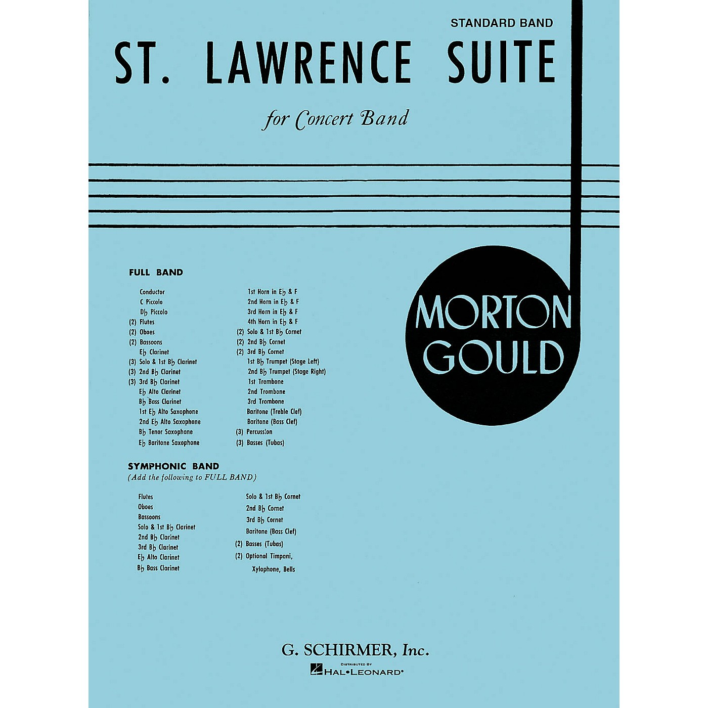 G. Schirmer St. Lawrence Suite (Score and Parts) Concert Band Level 4-5 Composed by Morton Gould thumbnail