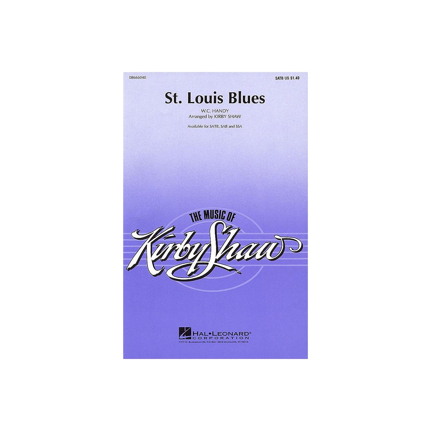 Hal Leonard St. Louis Blues (SATB) SATB arranged by Kirby Shaw thumbnail