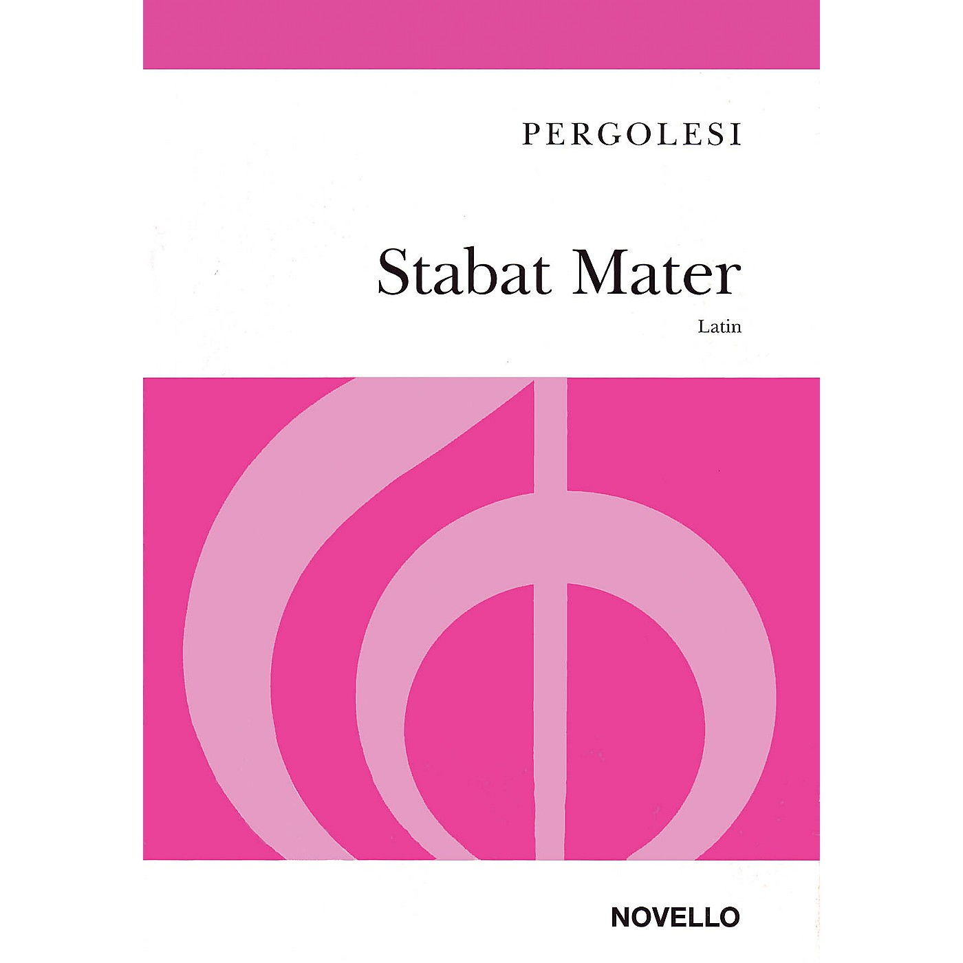 Novello Stabat Mater SA Composed by Giovanni Battista Pergolesi Arranged by John Hullah thumbnail
