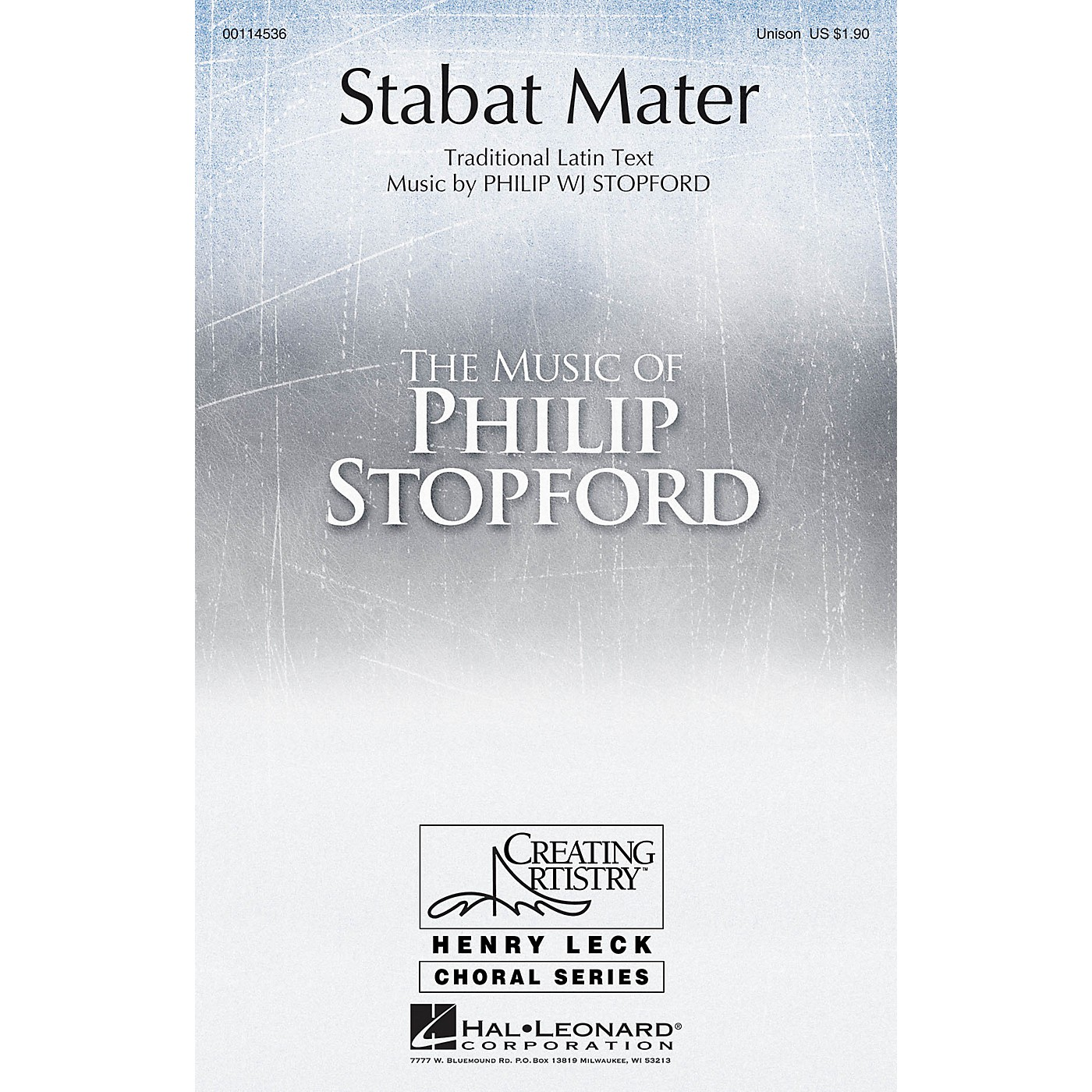 Hal Leonard Stabat Mater UNIS composed by Philip Stopford thumbnail
