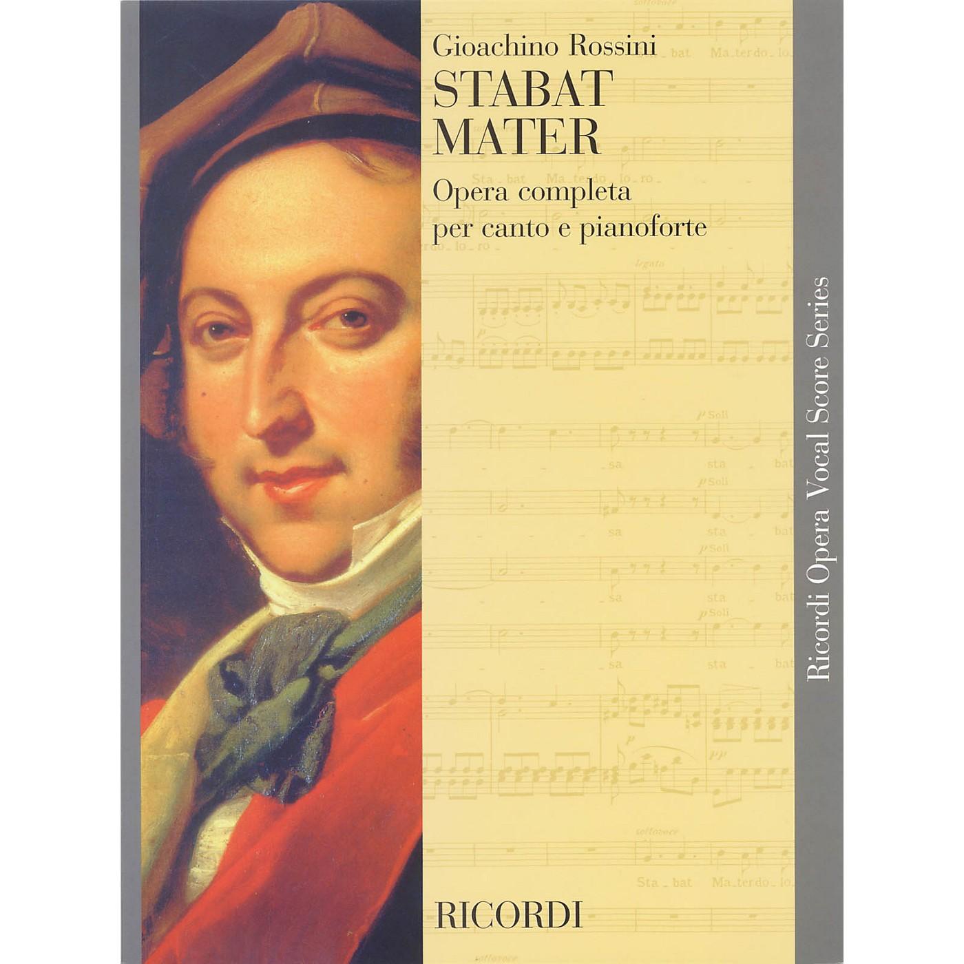 Ricordi Stabat Mater (Vocal Score) SATB Composed by Gioacchino Rossini thumbnail