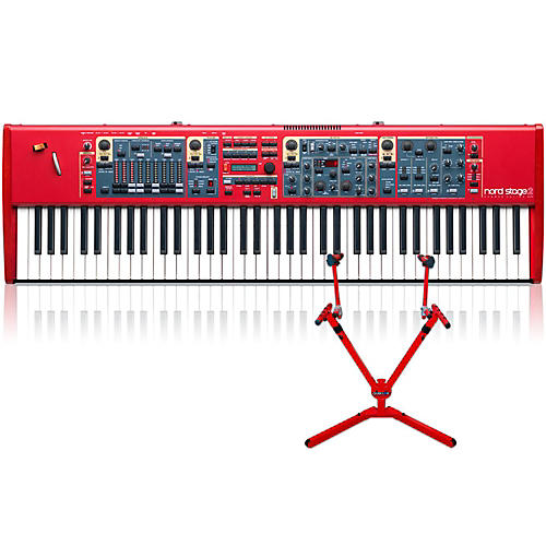 Nord Stage 2 HA76 with Matching 2-Tier Keyboard Stand thumbnail