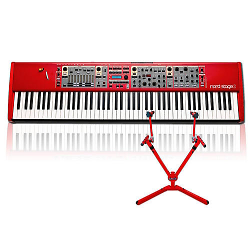 Nord Stage 2 HA88 with Matching 2-Tier Keyboard Stand thumbnail