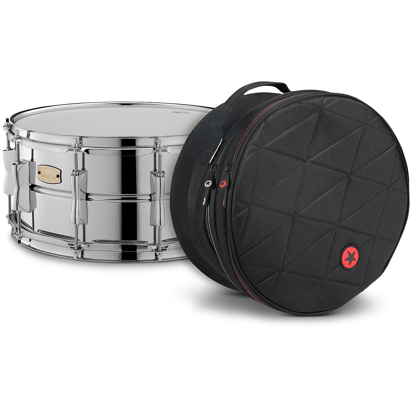 Yamaha Stage Custom Steel Snare with Road Runner Bag thumbnail