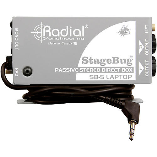 Radial Engineering StageBug SB-5 Stereo Laptop Direct Box thumbnail