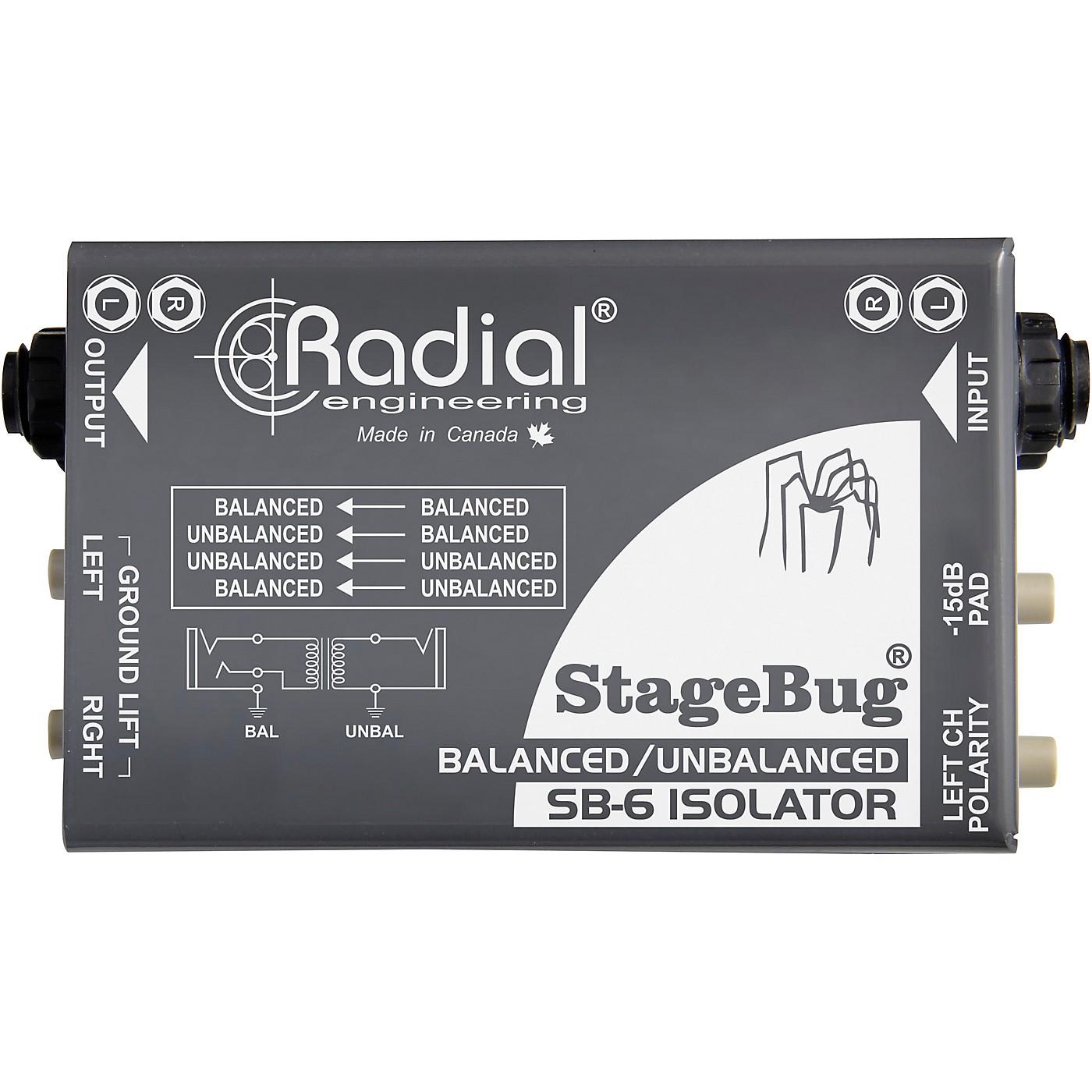 Radial Engineering StageBug SB-6 Passive Stereo Line Isolator thumbnail