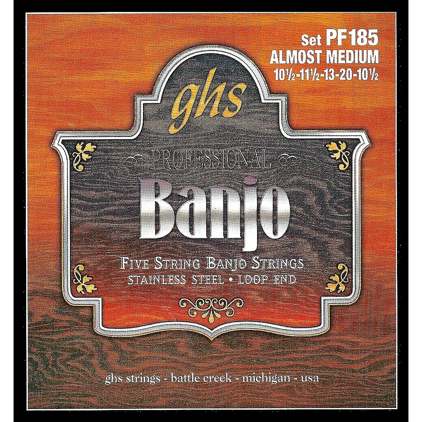 GHS Stainless Steel 5-String Banjo Strings - Almost Medium thumbnail