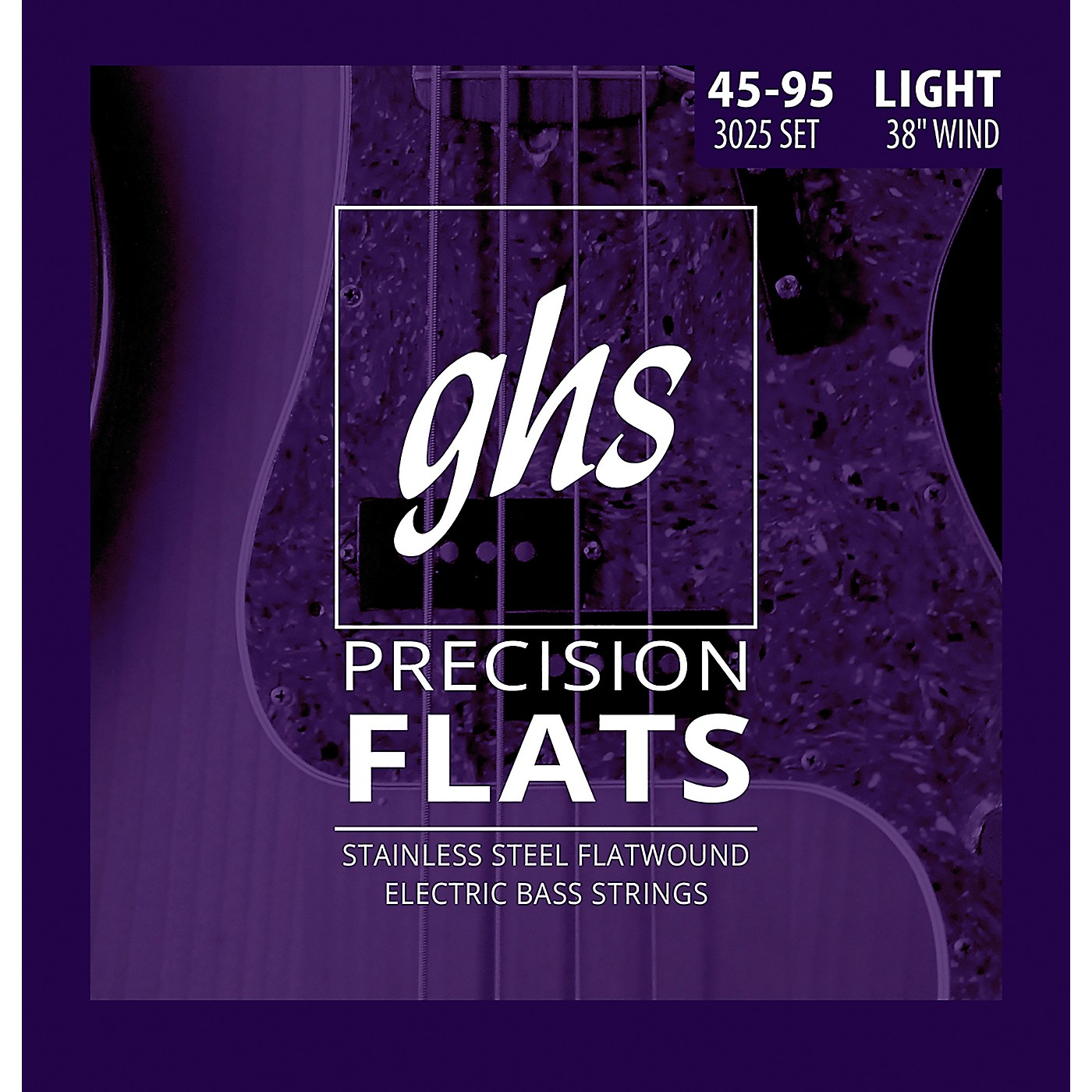 GHS Stainless Steel Precision Flatwound Electric Bass Strings thumbnail