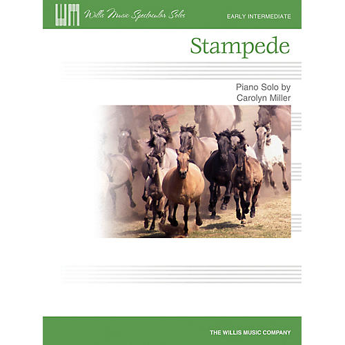Willis Music Stampede (Early Inter Level) Willis Series by Carolyn Miller thumbnail