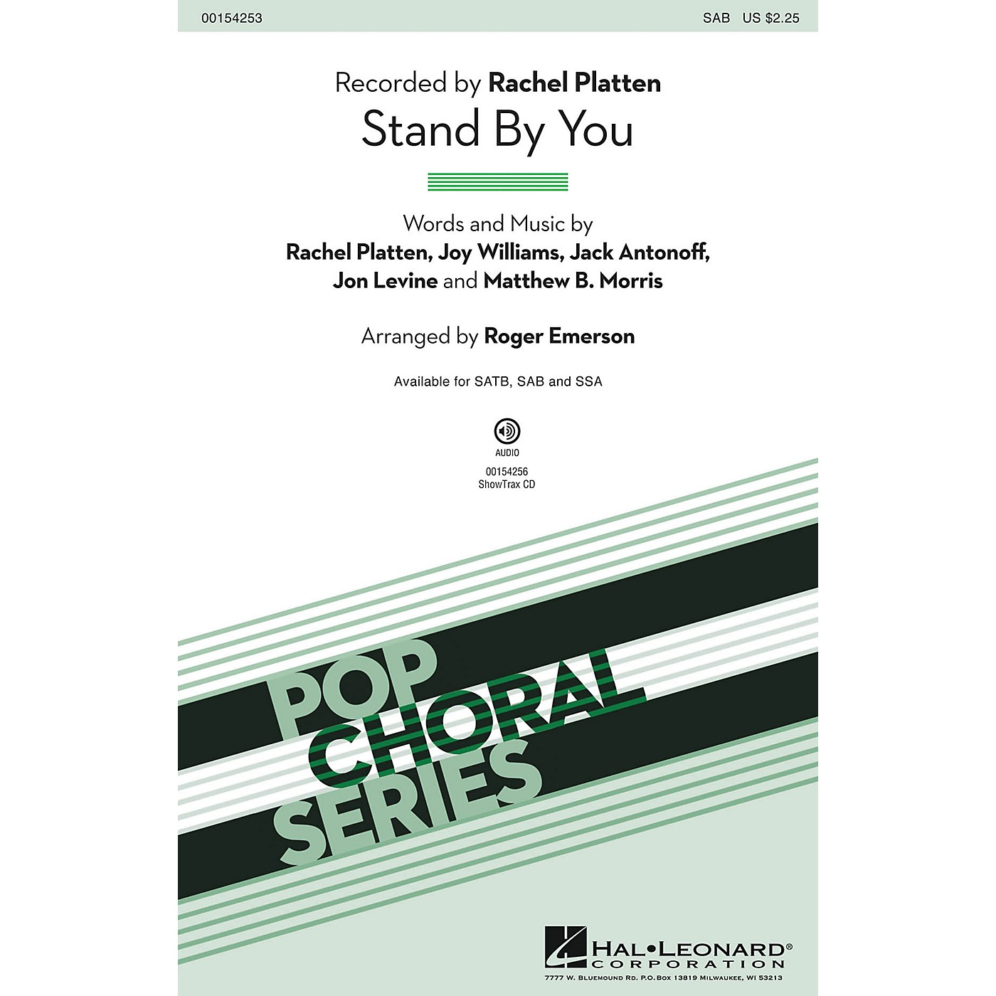Hal Leonard Stand By You SAB by Rachel Platten arranged by Roger Emerson thumbnail