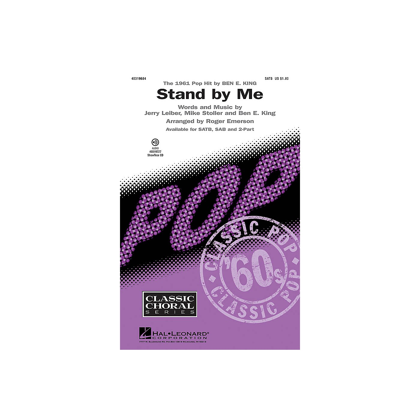 Hal Leonard Stand by Me SATB arranged by Roger Emerson thumbnail