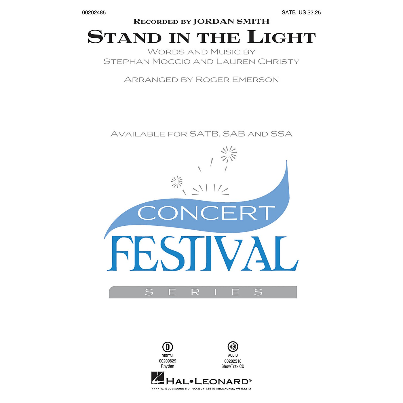 Hal Leonard Stand in the Light SATB arranged by Roger Emerson thumbnail
