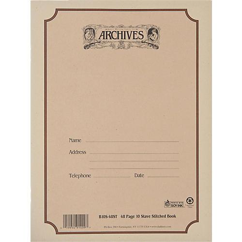 Archives Standard Bound Manuscript Paper thumbnail