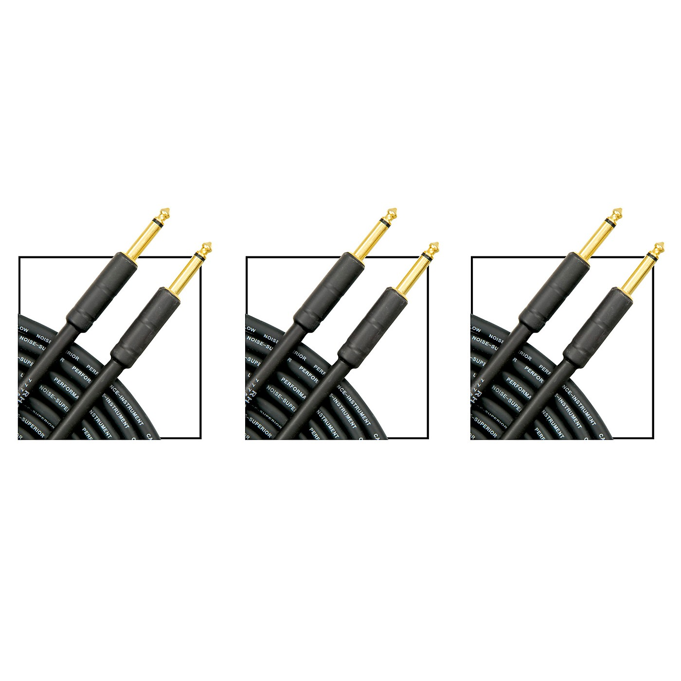 Musician's Gear Standard Instrument Cable - 20 ft. - 3 Pack thumbnail